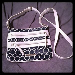 Nine West Blue and White multipocket crossbody